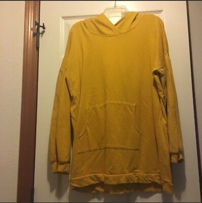 Agnes & Dora Puff Sleeve Pullover/Hoodie- Mustard - XL - NWOT New Without Tags Puff Sleeve Hoodie