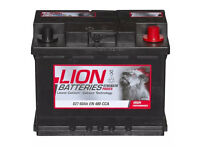 Brand new car battery Lion