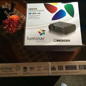 LUMINAR Projector with screen *BRAND NEW IN BOX