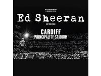 ED SHEERAN TICKET FOR CARDIFF 2018!!!