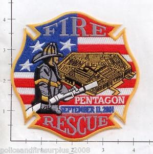 Washington DC - 9-11-01 Pentagon Fire & Rescue Fire Dept Patch  WTC 9-11