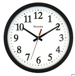 Westlox 14 Big round Office wall or garage clock black
