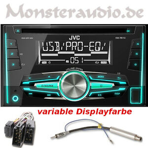 jvc autoradio doppel din cd usb mp3 radio vw golf 4 iv. Black Bedroom Furniture Sets. Home Design Ideas