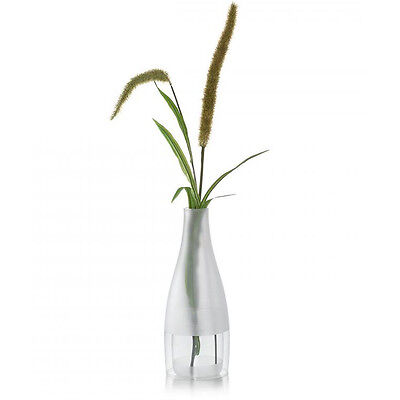 Philippi Germany Duett Borosilicate Frosted Glass Vase 2-Piece Set in Gift Box