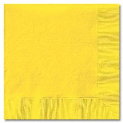 YELLOW (50) LUNCHEON LUNCH DINNER PAPER NAPKINS Party Supplies!! For Any Party!