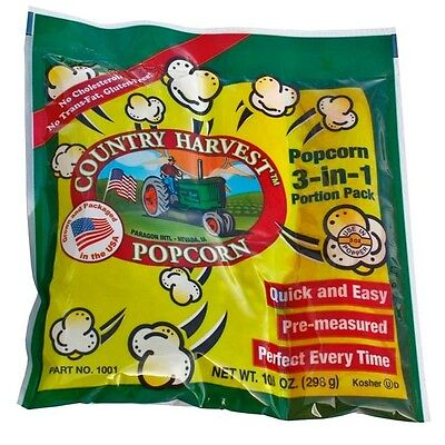 Country Harvest Popcorn Portion Pack For 8 Oz Poppers - 40 Packs In The Case