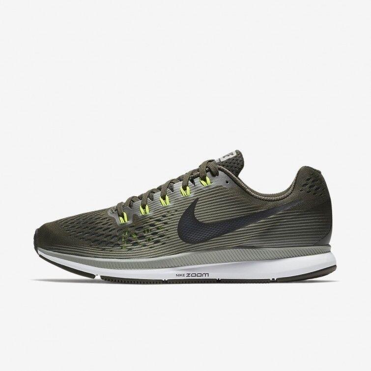 f50c0d1d90c7 NEW Nike Air Zoom Pegasus 34 Mens Running Shoe Size 8.5 Dark  Stucco Volt Black