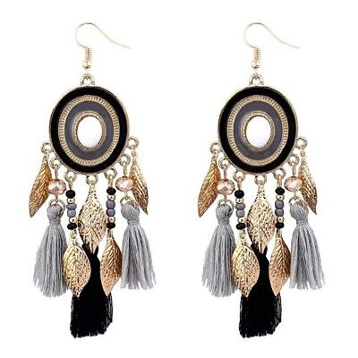 Bohemian Big Earrings for Women Tassel Large Statement Earrings Jewelry Gift New
