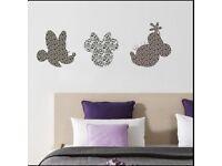 Disney Multicoloured Minnie Art Komar Wallpaper