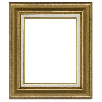 New Quality WOOD FRAME ANTIQUE GOLD 2.5
