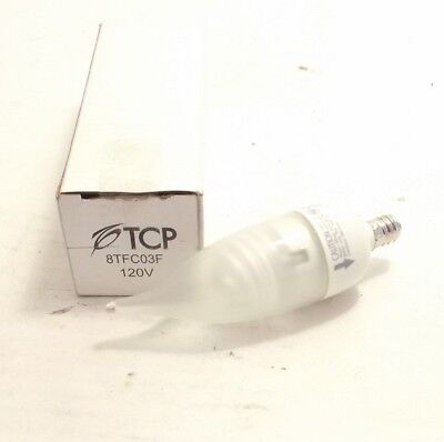 Dimmable Compact Fluorescent Lamp (TCP 8TFC03F 3 Watt Dimmable Flame Tip Compact Fluorescent Lamp - Candelabra Base )