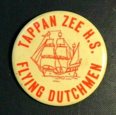 Vintage Pin - Tappan Zee NY High School Dutchmen with Sailing Ship