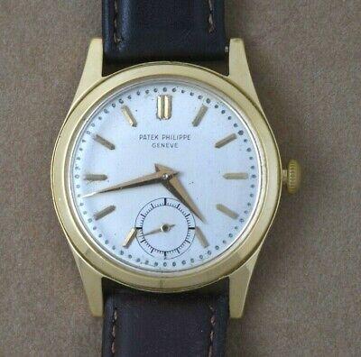 Vintage Men's 18K Round Patek Philippe Calatrava 18K Gold Ref. 2483 Wrist Watch