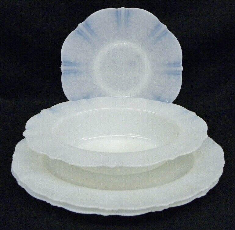 Unused 4 MacBeth-Evans American Sweetheart Monax Depression Oval Bowl, Platters