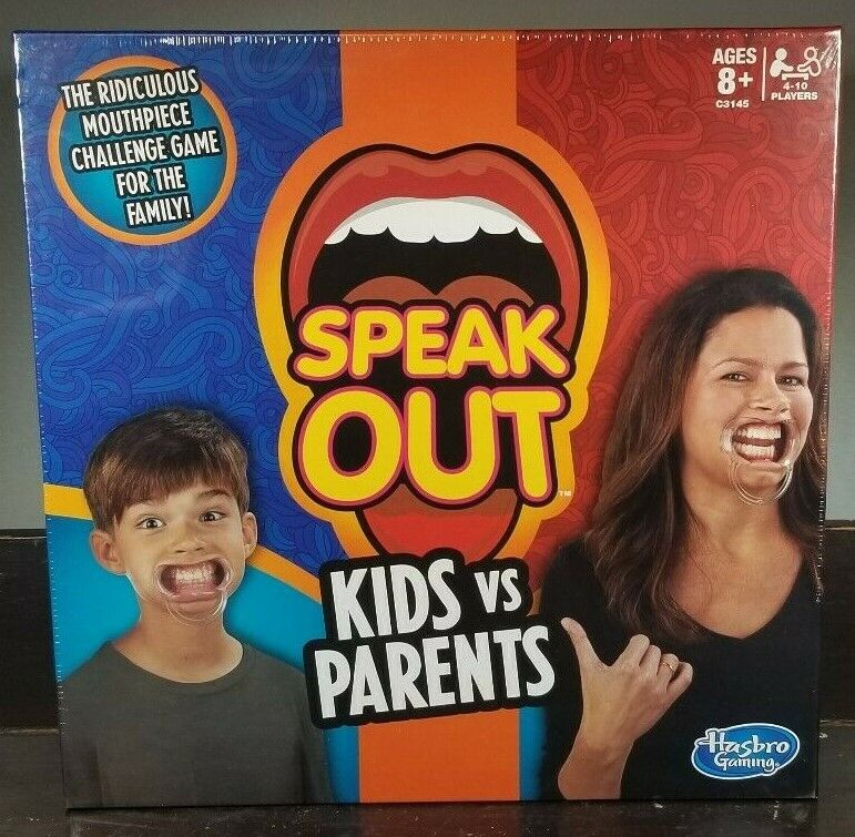 Original SPEAK OUT Kids vs Parents Game - Family Party Toy NEW Unopened SEALED