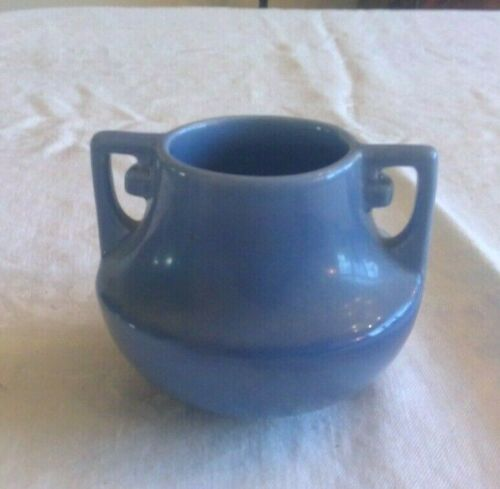 Stangl Colonial Blue Two Handle Small solid color Artware vase