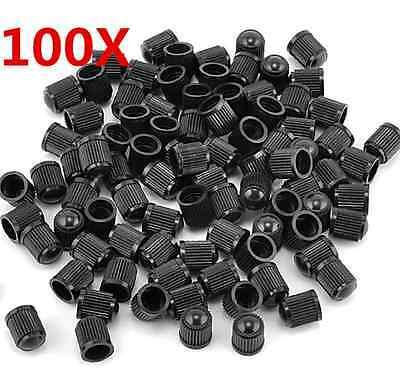 100pcs Black Plastic Auto Car Bike Motorcycle Truck wheel Tire Valve Stem Caps