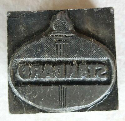 Standard Oil-antique Printing Press Block-solid Metal-advertising