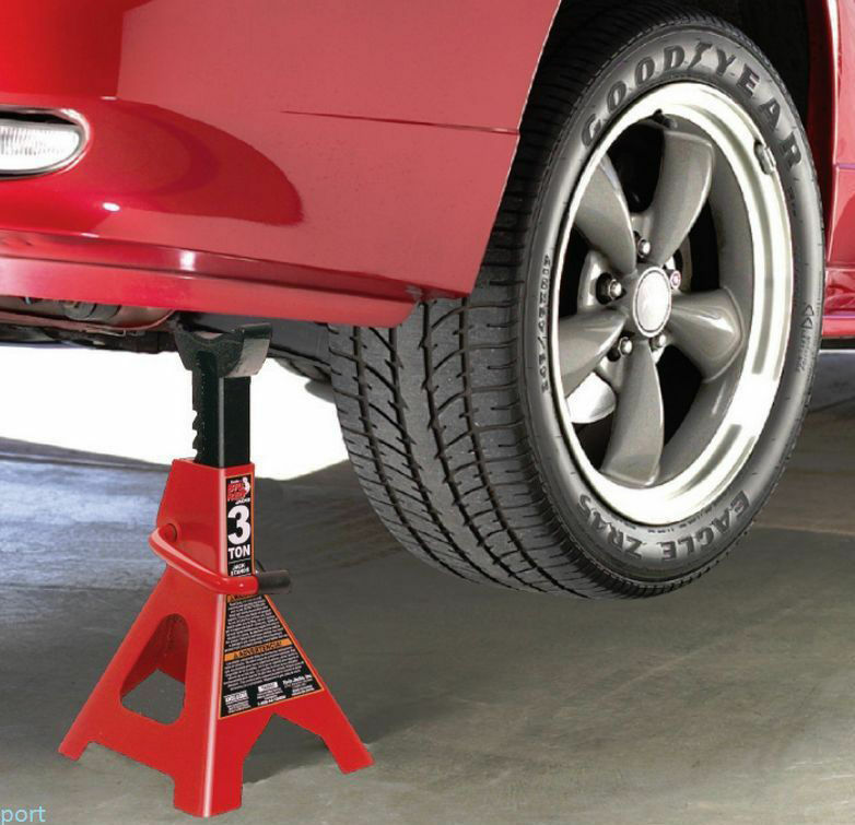 A jack stand can help hold your car up while you're changing a flat tire.