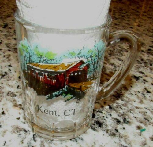 Vintage Covered Bridge Kent, CT Shot Glass Shotglass - Conn. Connecticut