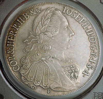 Click now to see the BUY IT NOW Price! 1771 AUSTRIA EMPEROR JOSEPH II. BEAUTIFUL SILVER THALER COIN. RR! PCGS AU 58!