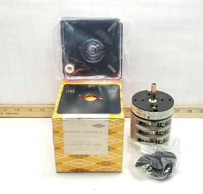 New Bremas Double Throw Cam Switch 600 Vac 3 Pole 40 Amp 32.5 Hp A4007pl105g