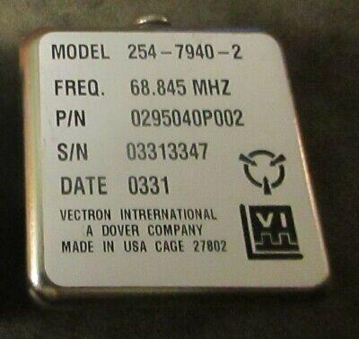 Vectron Laboratories Rf Crystal Oscillator 254-7940-2 68.845 Mhz