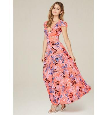 BEBE FLORAL CAP SLEEVE SURPLICE MAXI DRESS NEW NWT $149 XSMALL XS SMALL S 4 Surplice Maxi Dress