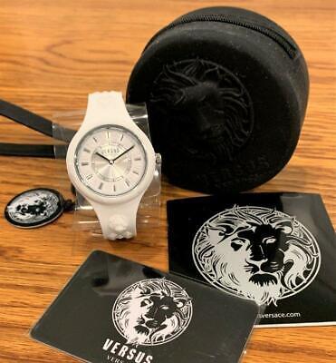 Versus Versace  Fire Island Silicone Watch White & Black VSPOQ4819 NEW