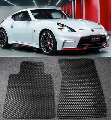 All Weather Black Rubber Floor Mats Liners Front 2 PCS For 09 16 Nissan 370Z