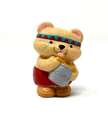 RARE 1993 THANKSGIVING BEAR WITH HONEY MERRY MINIATURE ORNAMENT CUTE & SCARCE