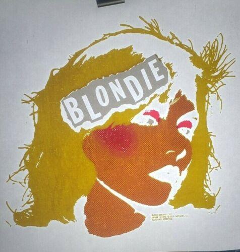 "Blondie Debbie Harry Logo Iron On Heat Transfer Yellow Pink White 12""X12""  Rock"