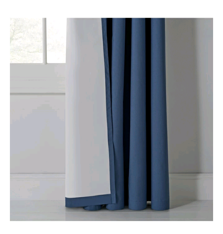 Argos thermal blackout eyelet curtains navy blue 168x183 cm | in  Stoke-on-Trent, Staffordshire | Gumtree