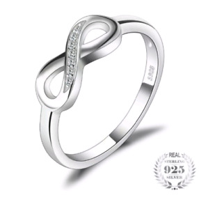 Brand new Solid 925 silver infinity ring