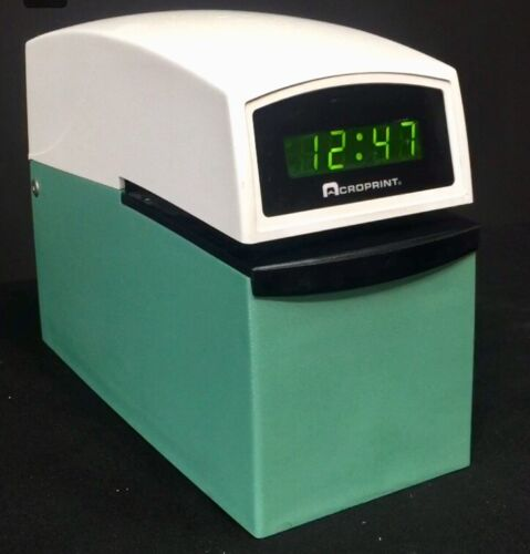 ACROPRINT ETC DIGITAL TIME STAMP PUNCH RECORDER