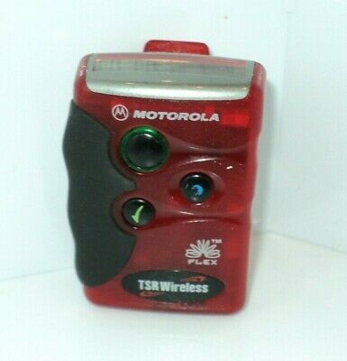 Motorola FLEX Pager / Beeper Red Color TSR Wireless
