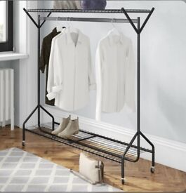 Black 150cm Wide Clothes Rack selling at £35 brand new boxed