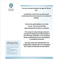 Participants Needed for Social Experiences Study-Women 18-30