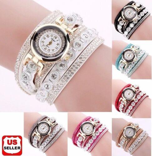 Fashion Women's Stainless Steel Bling Rhinestone Bracelet Wr