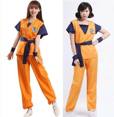 Dragon ball Z DBZ Son Goku T-Shirt Turtle Pants Outfit Womens Costume (Son Goku Kostüm Shirt)