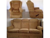 Parker Knoll Suite in great condition: 3 seater sofa & 2 recliners in perfect working condition