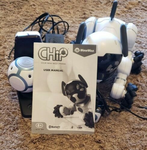 WowWee CHIP Robot Toy Interactive Smart Dog *Read Description*
