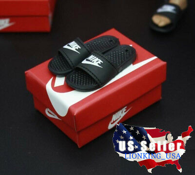 "1/6 Scale Nike Slides Sandals Slippers A For Hot Toys Phicen 12"" Figure  ❶USA❶ for sale  Shipping to Nigeria"