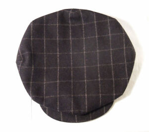 CASQUETTE-HOMME-CHIC-ANCIENNE-STYLE1930-1940-Chocolat-CARREAUX-Brown-Check