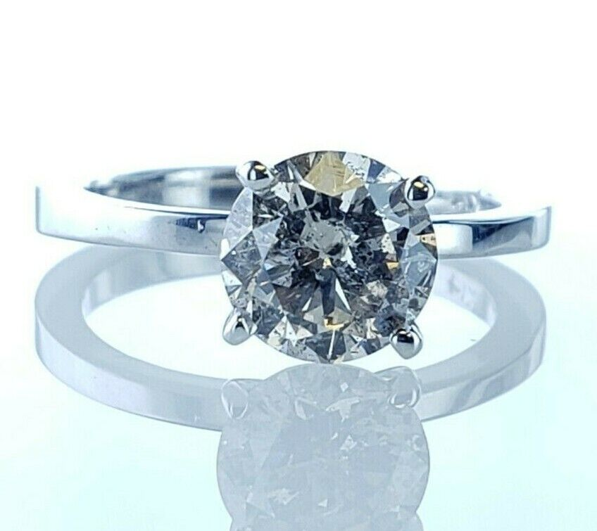 1.50 CT Round Brilliant  Champagne Diamond Solitaire Diamond Engagement Ring