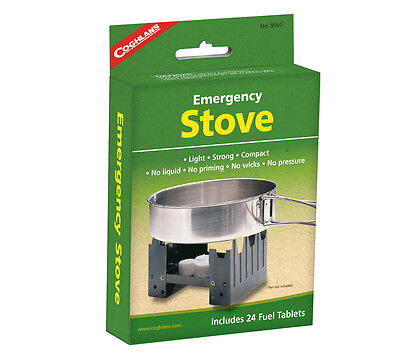 Solid Fuel Stove and 24 Hexamine Tablets Coghlans Folding Emergency Pocket Stove