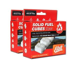 24 ESBIT Hexamine Solid Fuel Tablets - Folding Stove or Fire Starter