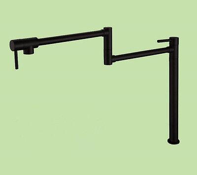 Brass Black Pot Filler Kitchen Faucet Deck Mounted Universal Telescopic Sink -