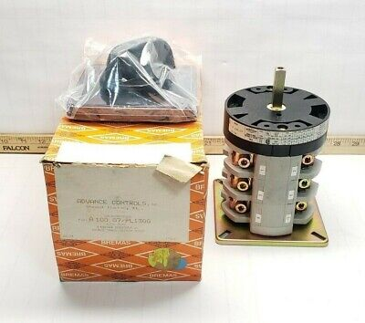 New Bremas Double Throw Cam Switch 600 Vac 3 Pole 100 Amp 65 Hp A100.07pl130g
