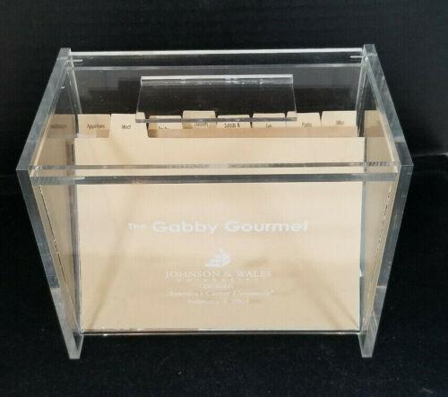 The Gabby Gourmet Plexiglass Recipe Index Card Box Kitchenware